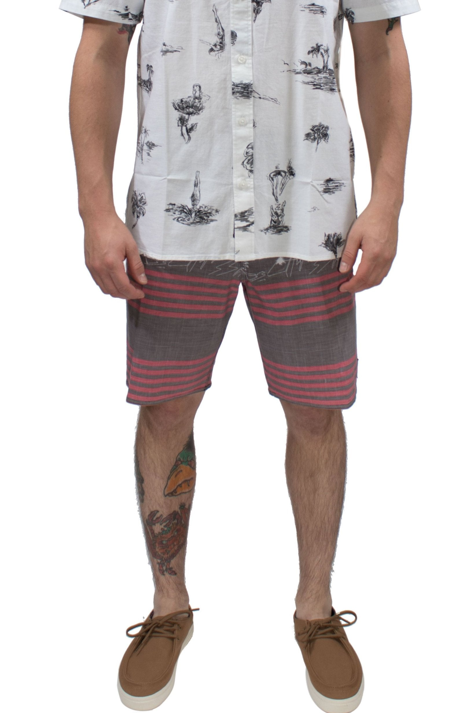 7592ecf74b9c Vans Era Triblend Boardshort- Black Island Beach - Chane