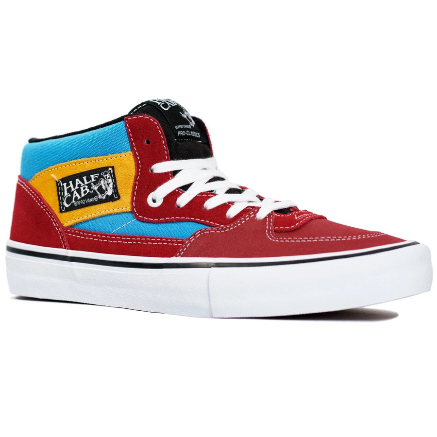 Vans Half Cab Pro - (Knee Slide) Red/Blue
