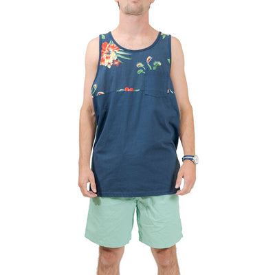 Vans Hillbilly Trap Floral Tank Top - Navy