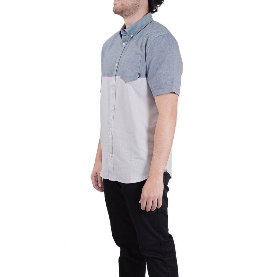 Vans Houser Short Sleeve Buttondown Shirt - Blue/Grey