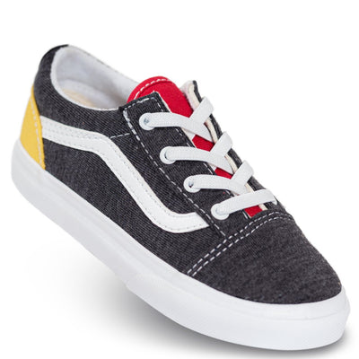 Vans Kids Old Skool Elastic Lace - (Coastal) Black/True White
