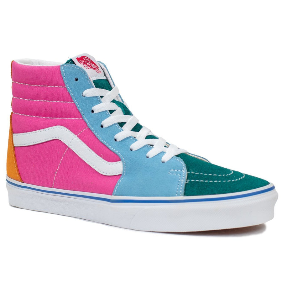 Vans Sk8-Hi - (Suede/Canvas) Multi/Bright
