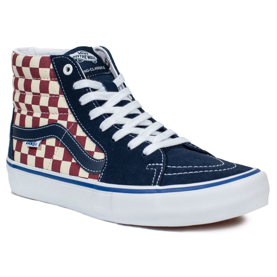 Vans SK8-Hi Pro - (Checker) Dress Blue