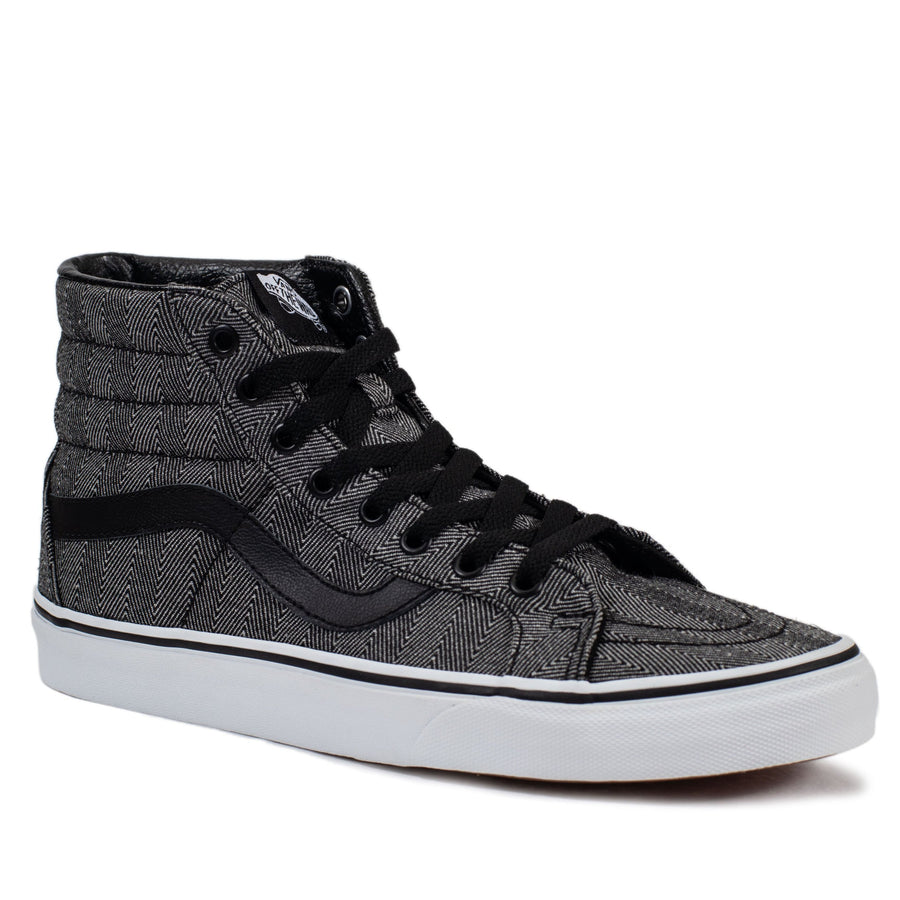 Vans Sk8-Hi Reissue - (Oversized Herringbone) Black True White