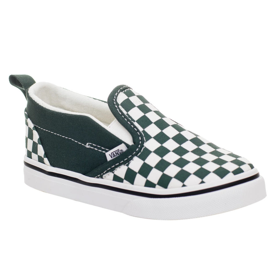 Vans Classic Slip-On V (Checkerboard) Trekking Green/True White