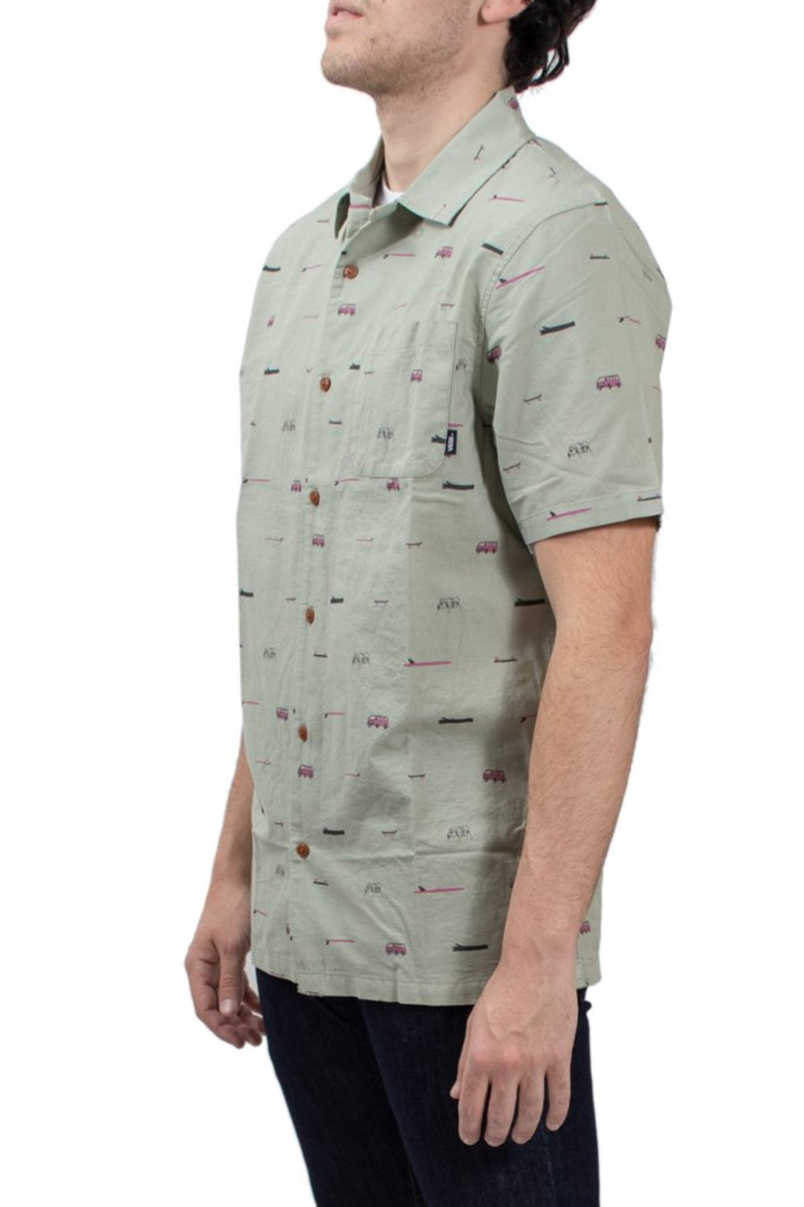 Vans Yusuke Loggin Short Sleeve Buttondown Shirt