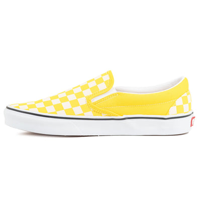 Vans Slip-on (Checkerboard) - Cyber Yellow/True White