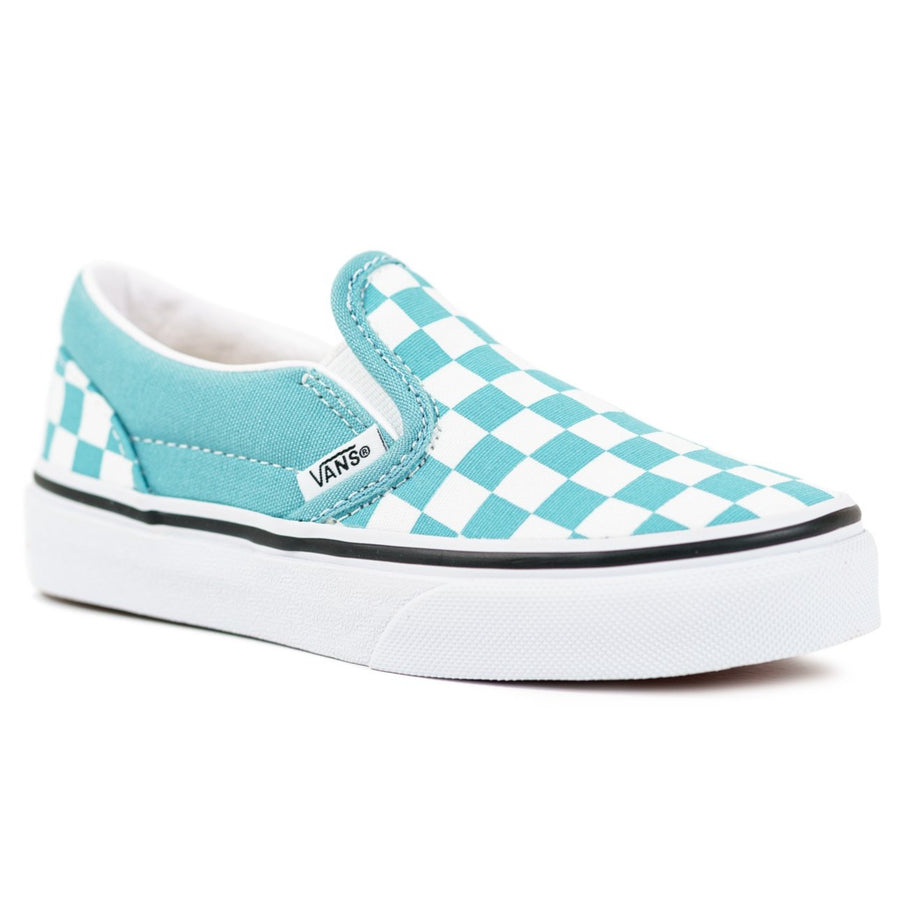 Vans Classic Slip-on - (Checkerboard) Delphinium Blue/True White