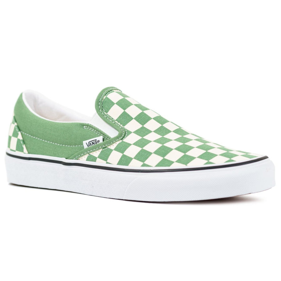 Vans Slip-on (Checkerboard) - Shale/True White