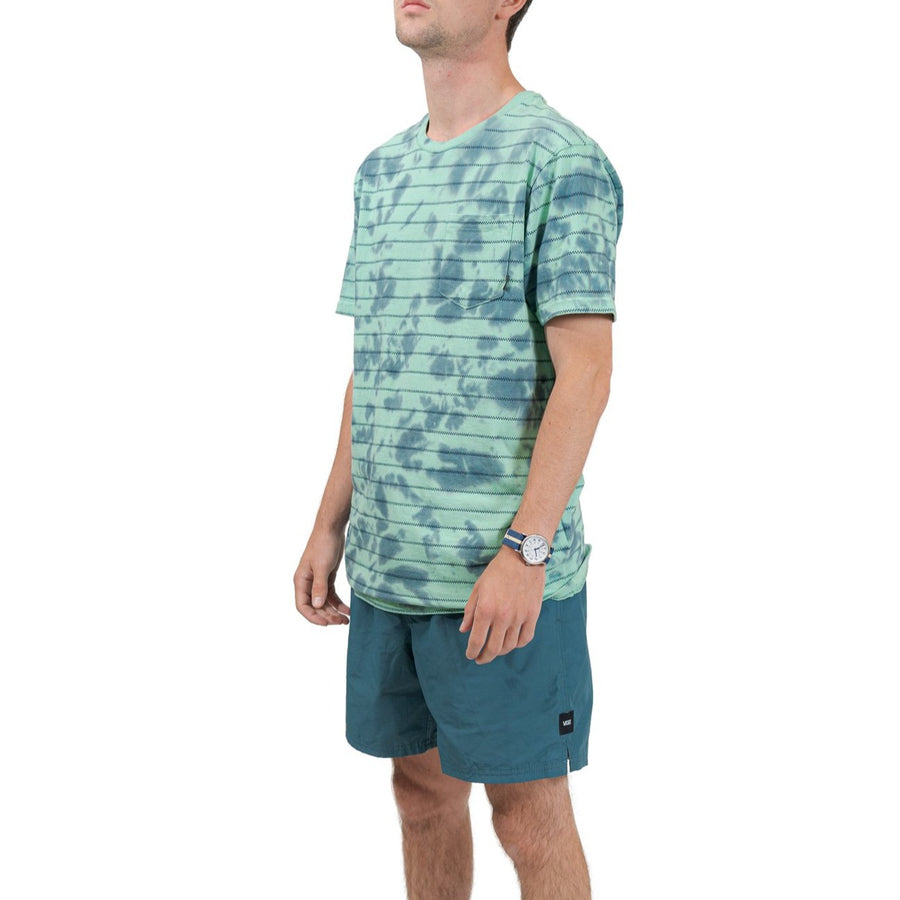 Vans Tie Dye Checker Stripe Shirt - Dusty Jade Green/Stargazer