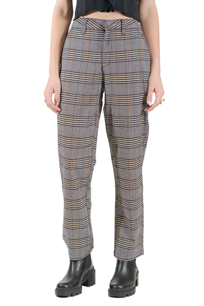 Volcom Frochickie Highrise Plaid Pants - Black/Combo