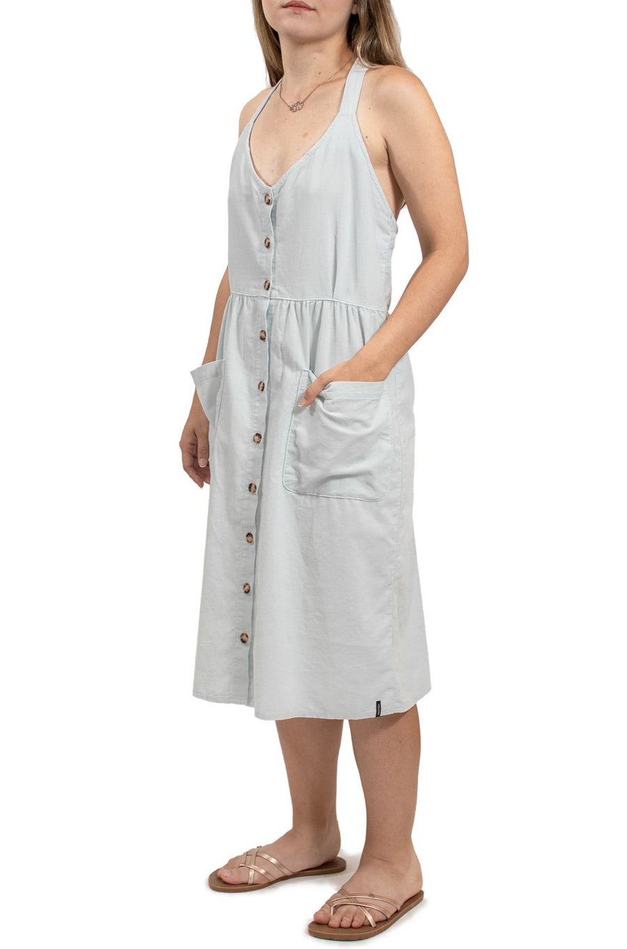 Volcom Re Cording Dress - Smokey Blue