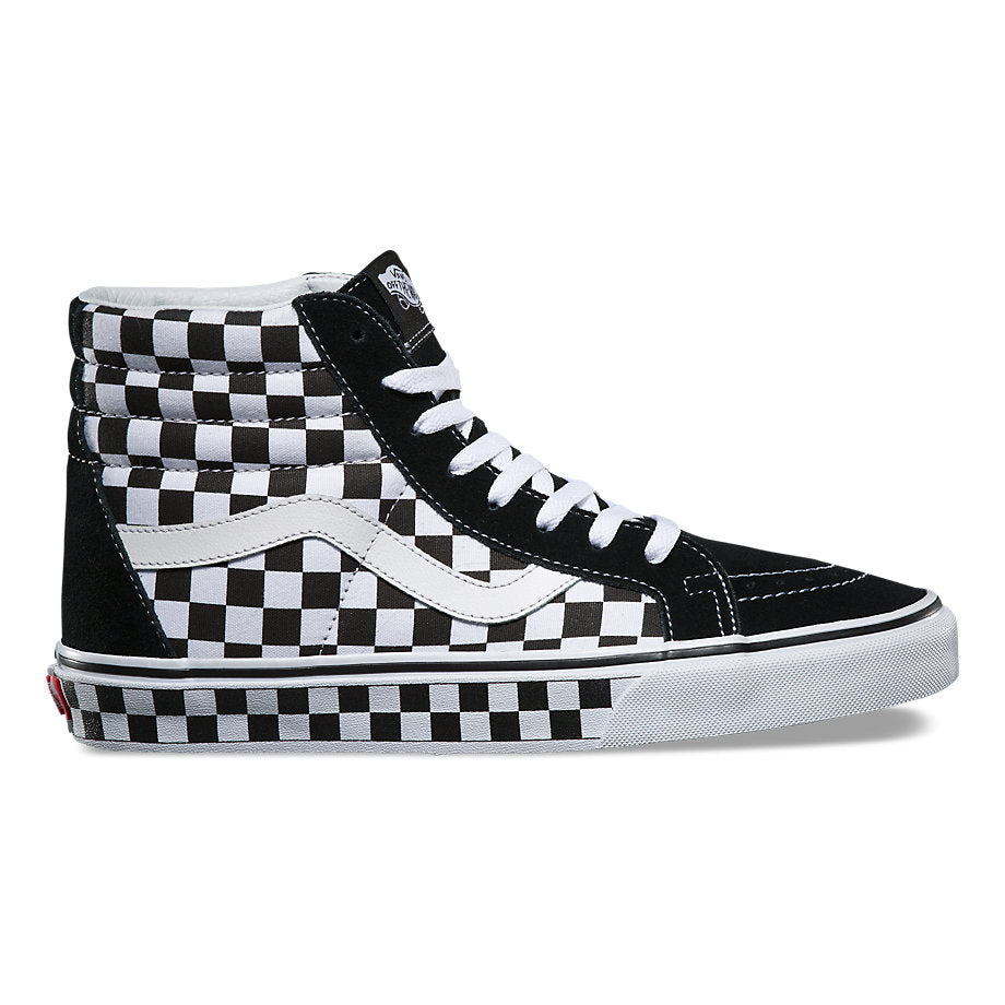 vans black white check