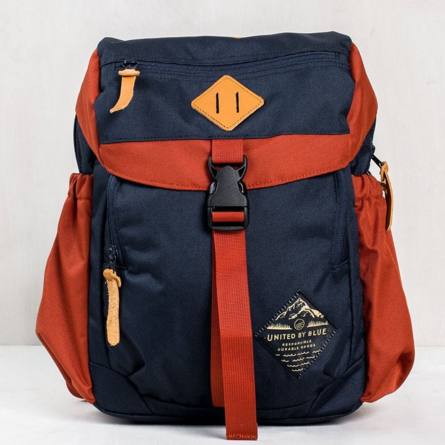 United By Blue Bluff Utility Pack - Navy/Rust