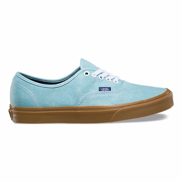 Vans Authentic (Washed Canvas) - Blue Radiance/Gum