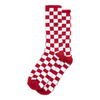 Vans Checkerboard Crew II Sock - Red/White