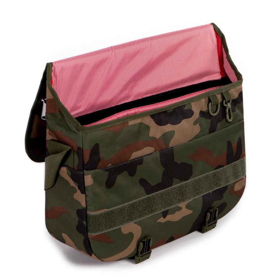 Herschel Pop Quiz Messenger Bag - Woodland Camo/Multi Zipper