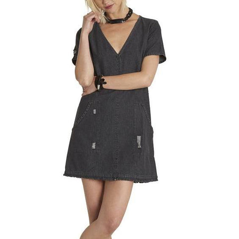 Element In The Night Dress - Washed Black