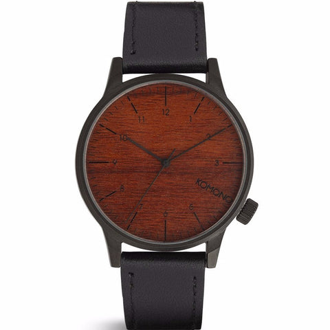 Komono Winston Watch - Black Wood