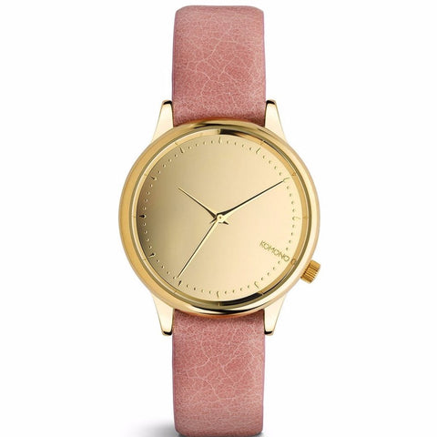 Komono Estelle Mirror Watch - Gold Blush