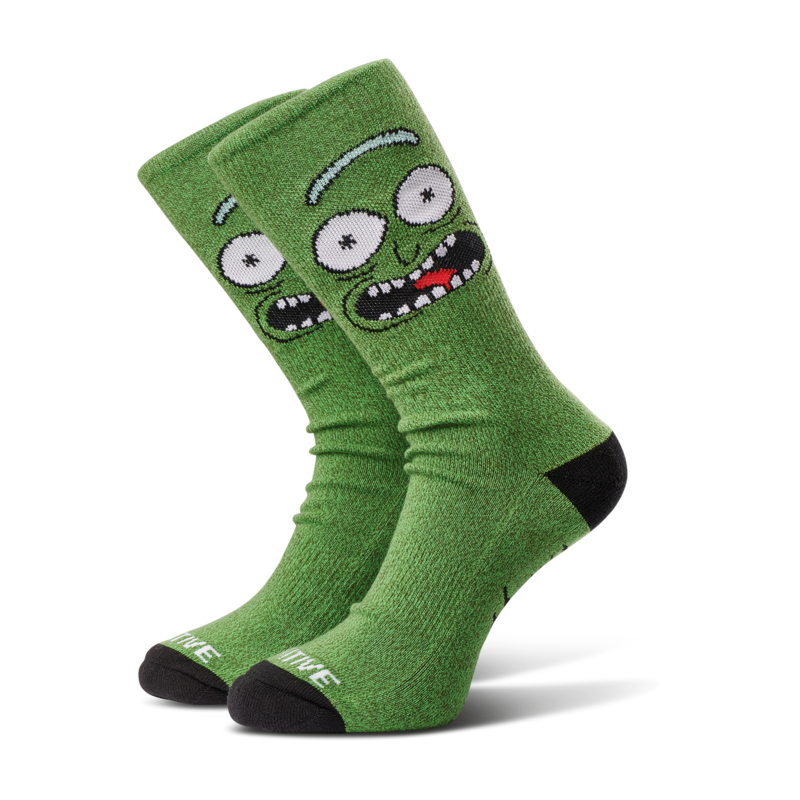 Primitive X Rick & Morty Pickle RIck Crew Sock