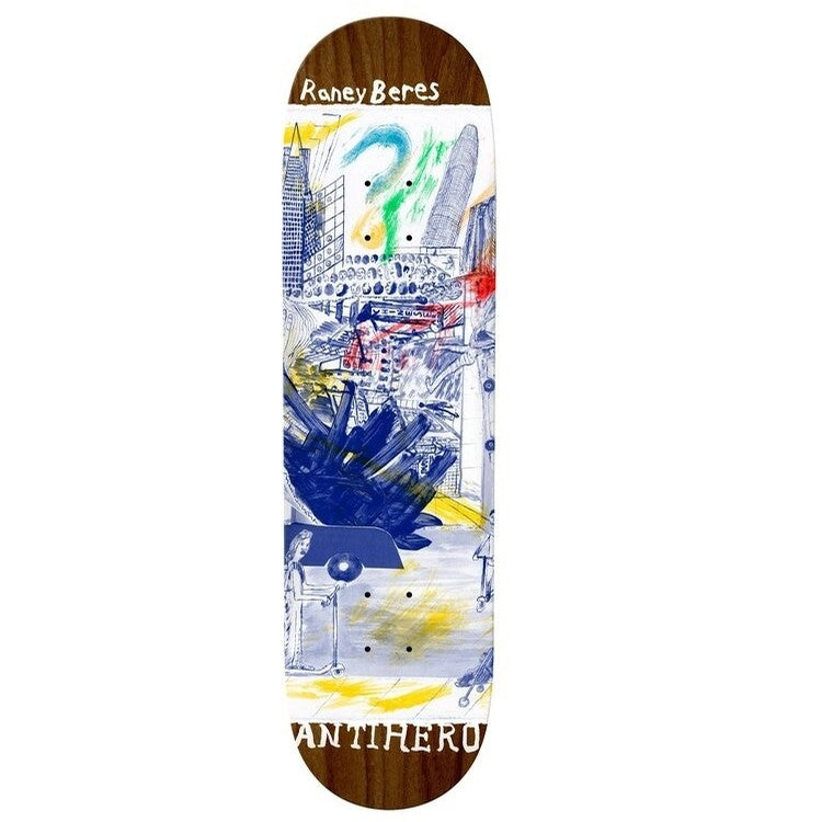 Anti Hero Beres SF Then and Now Skateboard Deck - 8.12