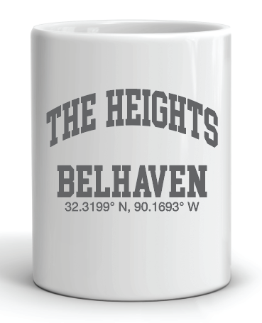32.3199 N, 90.1693 W - THE HEIGHTS BELHAVEN COORDINATES Mug