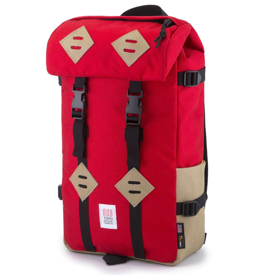 Topo Designs Klettersack - Red/Khaki Leather