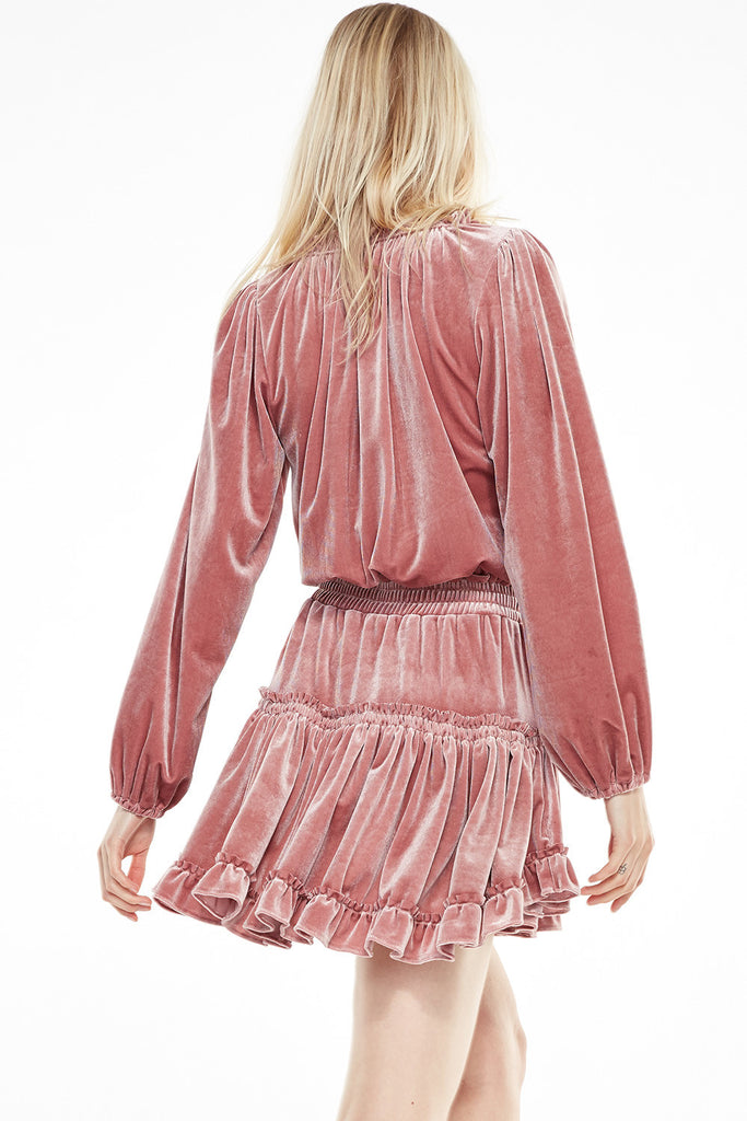 Lorena Velvet Dress - Blush