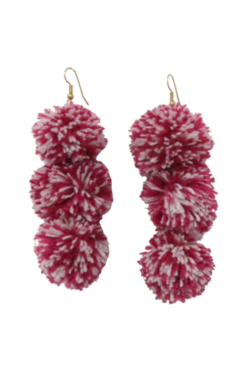 Caprice Sangria Pompom Earrings - MISA Los Angeles