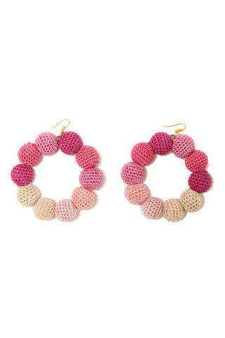 Crochet Dots Fleur Ombre Earrings - MISA Los Angeles