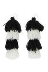 Carlotta Black and White Tassel Earrings - MISA Los Angeles