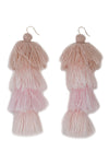 Carlotta Rose Ombre Tassel Earrings - MISA Los Angeles