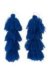 Carlotta Royal Blue Tassel Earrings - MISA Los Angeles