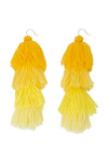 Carlotta Sun-Kissed Ombre Tassel Earrings - MISA Los Angeles