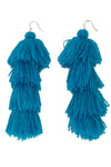 Carlotta Turquoise Tassel Earrings - MISA Los Angeles