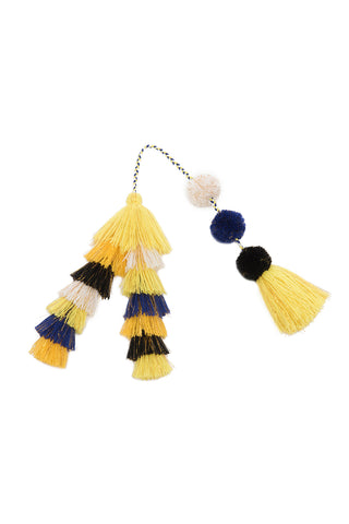 Carlotta Turquoise Tassel Earrings
