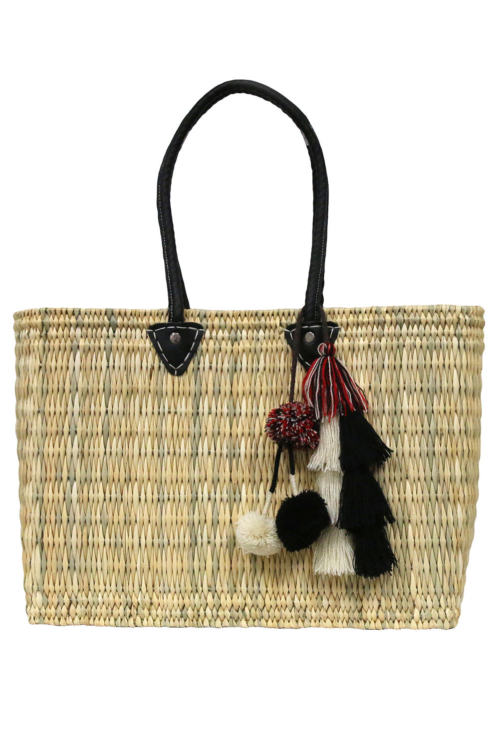 Jane Large Box Bag With Flavia Pompom - MISA Los Angeles