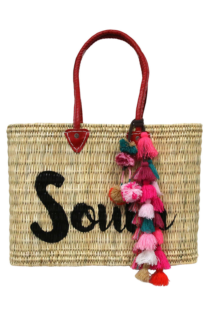 Jane Box Bag, Large - South<br>Sold with Sayeh Pompom