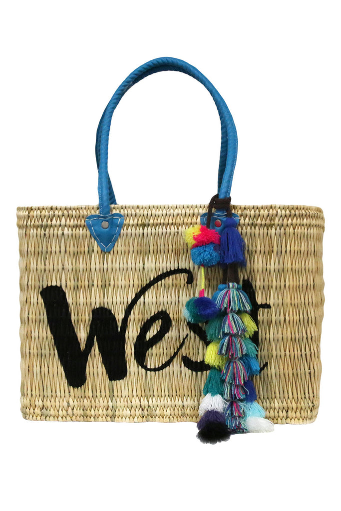 Jane Box Bag , Large - West<br>Sold with Sayeh Pompom