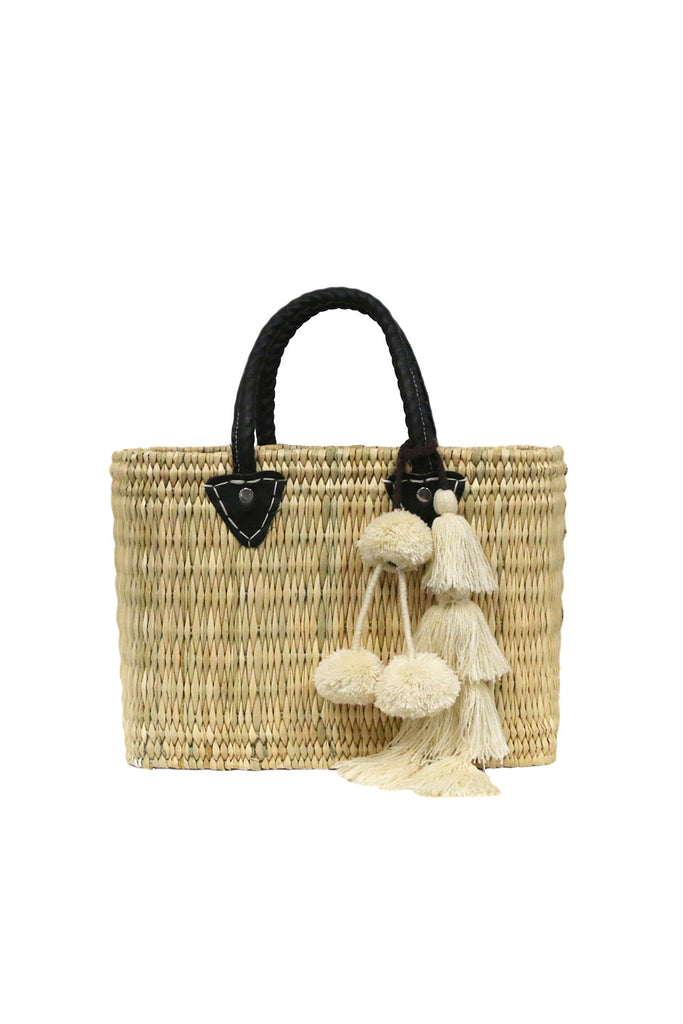 Jane Box Bag, Small Solid<br>Sold with Flavia Pompom