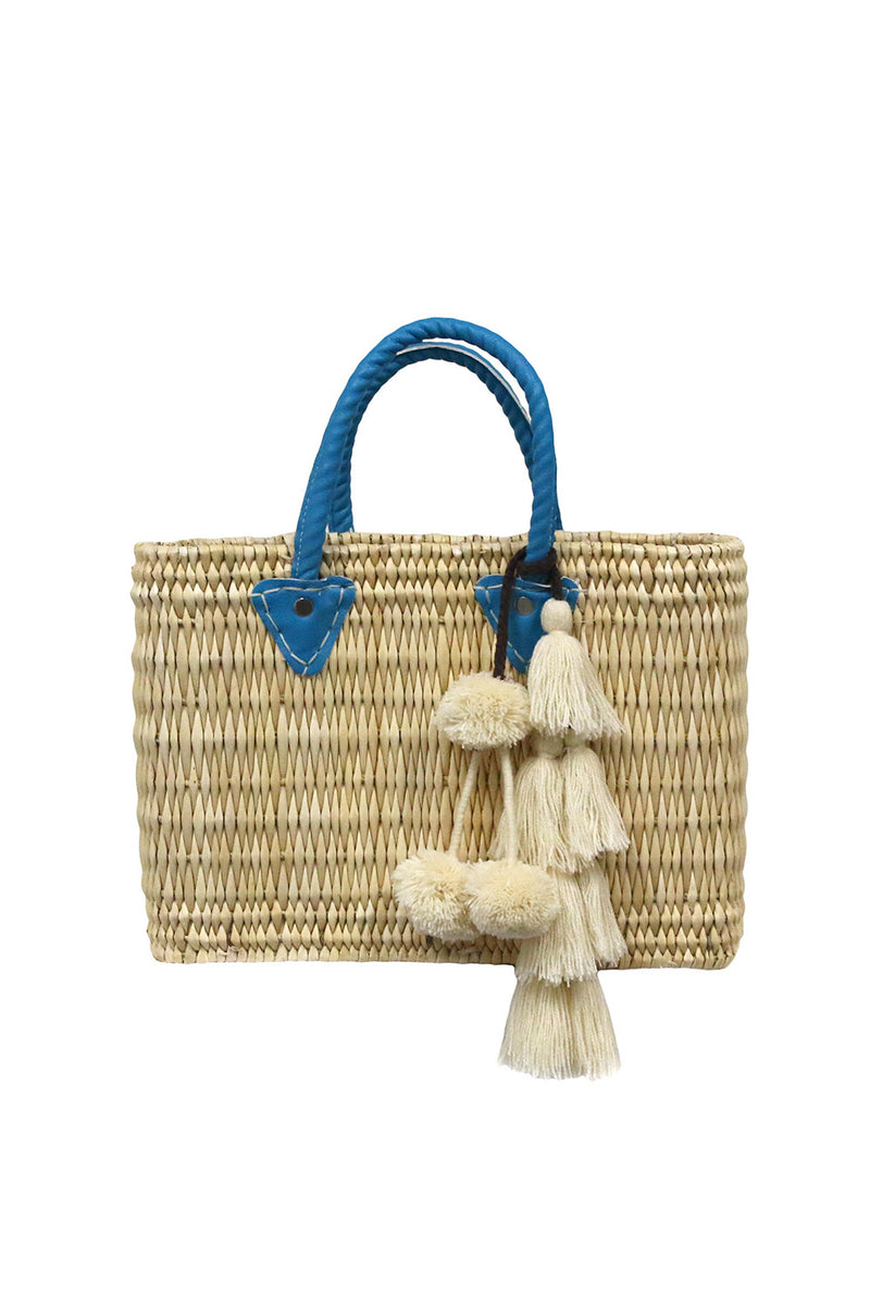 Jane Small Box Bag With Flavia Pompom - MISA Los Angeles