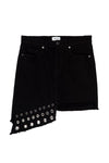 Super Star Asymmetrical Denim Mini-Skirt - MISA Los Angeles