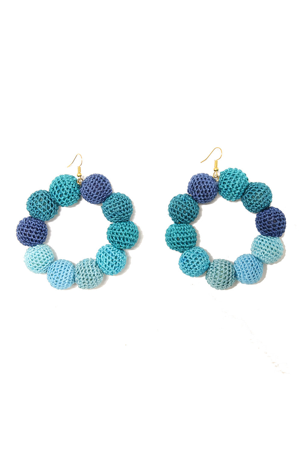 Crochet Dots Sea Ombre Earrings - MISA Los Angeles