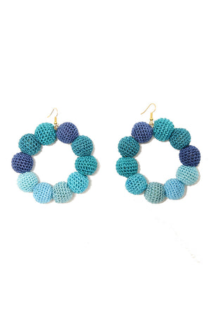 Crochet Dots Sea Ombre Earrings