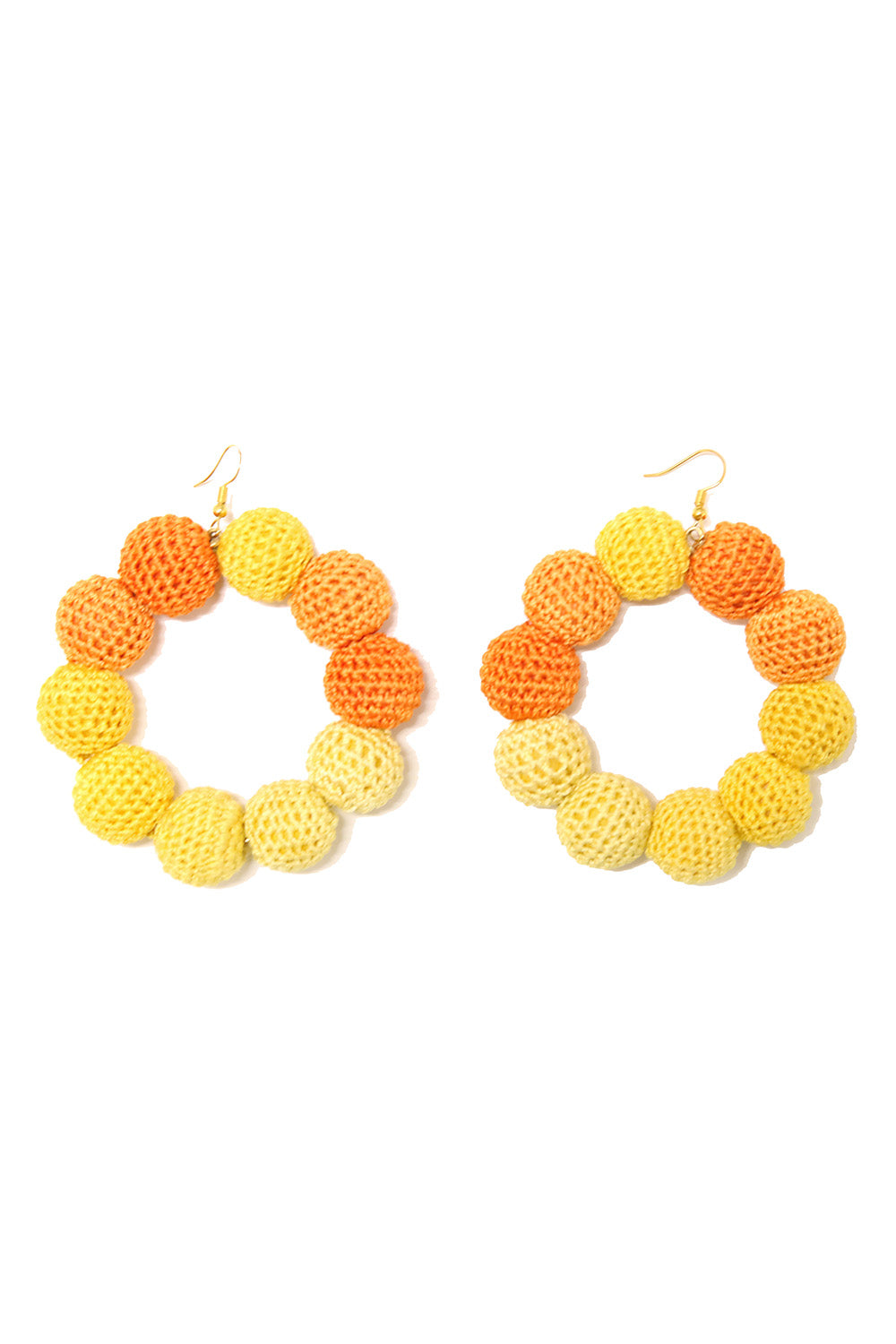 Crochet Dots Sunset Ombre Earrings - MISA Los Angeles