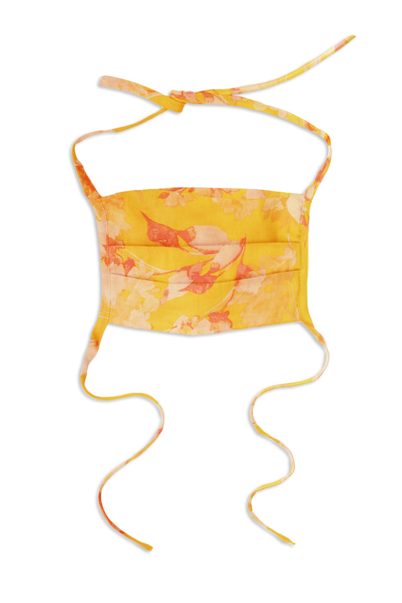 3-PACK FACE MASKS - YELLOW FLORAL COMBO - MISA Los Angeles