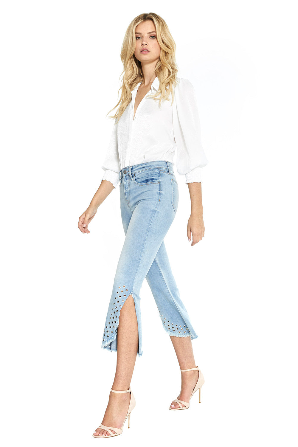 Superstar Crop Flare Jeans - MISA Los Angeles