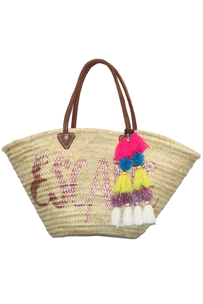 Marrakesh Bag Long Handle - Escape<br>Sold with Adina Pompom - Misa Los Angeles - 1