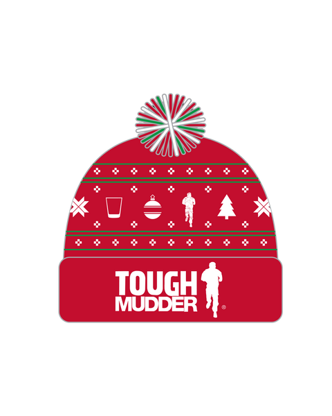 Tough Mudder Holiday Beanie - Red